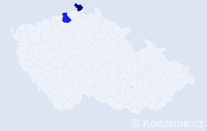 Příjmení: 'Emmerich', počet výskytů 3 v celé ČR