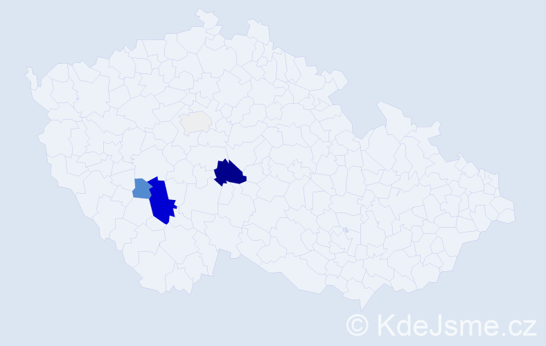Příjmení: 'Hospergr', počet výskytů 13 v celé ČR