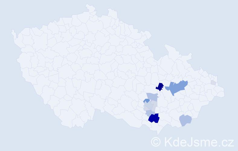 Příjmení: 'Himerová', počet výskytů 34 v celé ČR