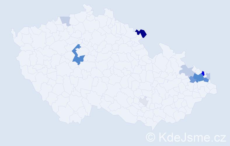 Příjmení: 'Knýbel', počet výskytů 30 v celé ČR