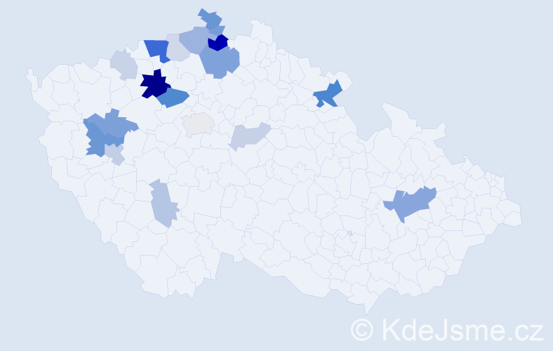 Příjmení: 'Ingrišová', počet výskytů 51 v celé ČR