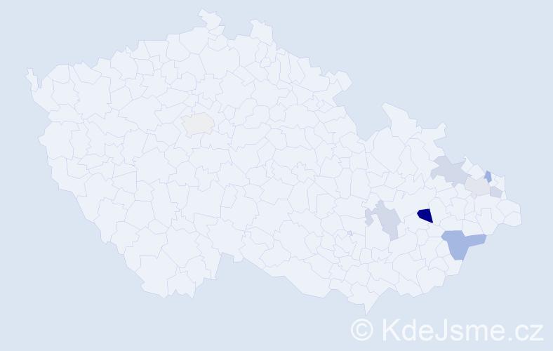 Příjmení: 'Abendrothová', počet výskytů 11 v celé ČR