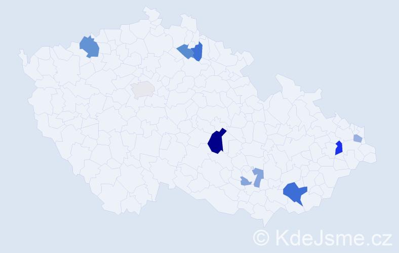 Příjmení: 'Jaluška', počet výskytů 15 v celé ČR