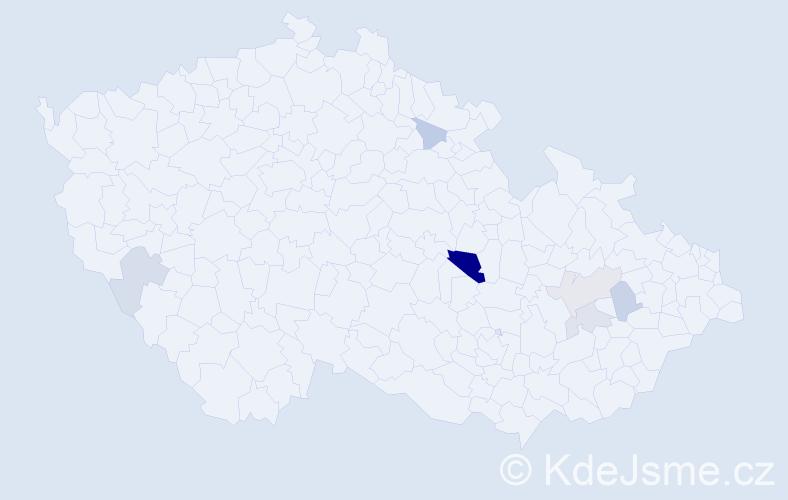 Příjmení: 'Baiza', počet výskytů 12 v celé ČR