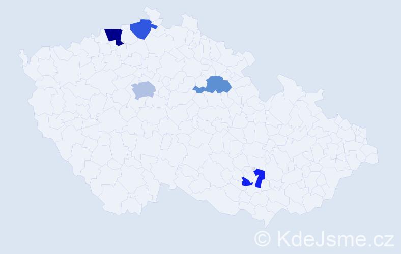 Příjmení: 'Drapela', počet výskytů 7 v celé ČR
