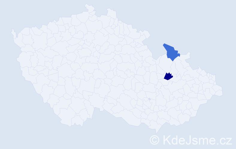 Příjmení: 'Eškulič', počet výskytů 2 v celé ČR