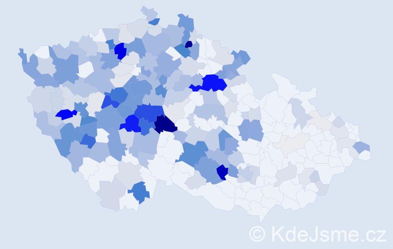 Příjmení: 'Boučková', počet výskytů 916 v celé ČR