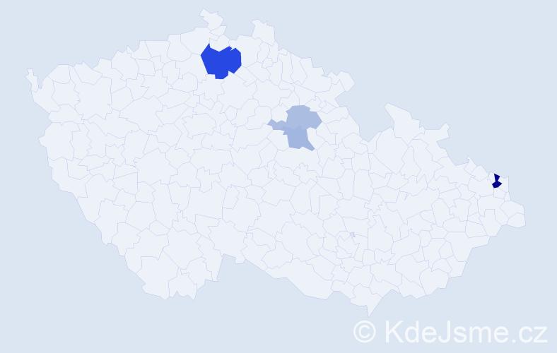 Příjmení: 'Ilovská', počet výskytů 8 v celé ČR