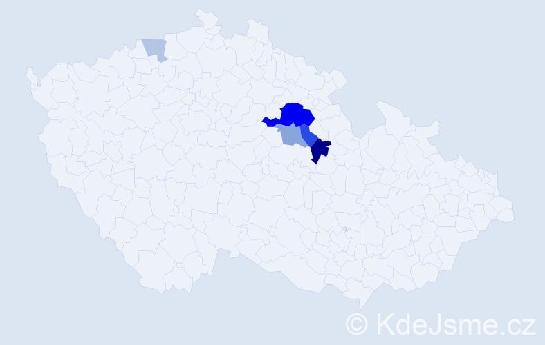 Příjmení: 'Bartízal', počet výskytů 15 v celé ČR
