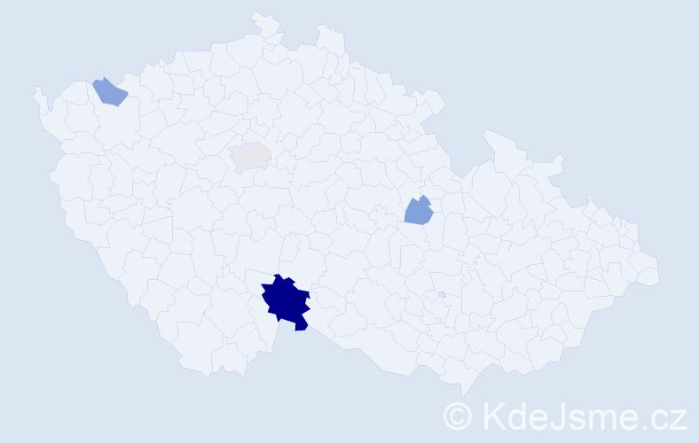 Příjmení: 'Gantner', počet výskytů 11 v celé ČR