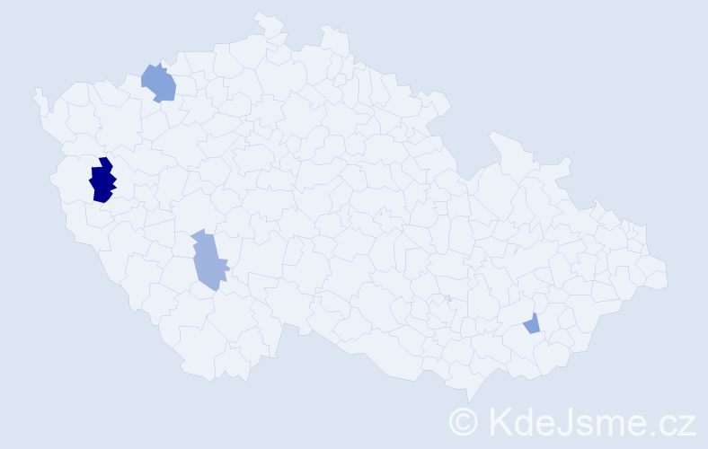 Příjmení: 'Ďurove', počet výskytů 6 v celé ČR