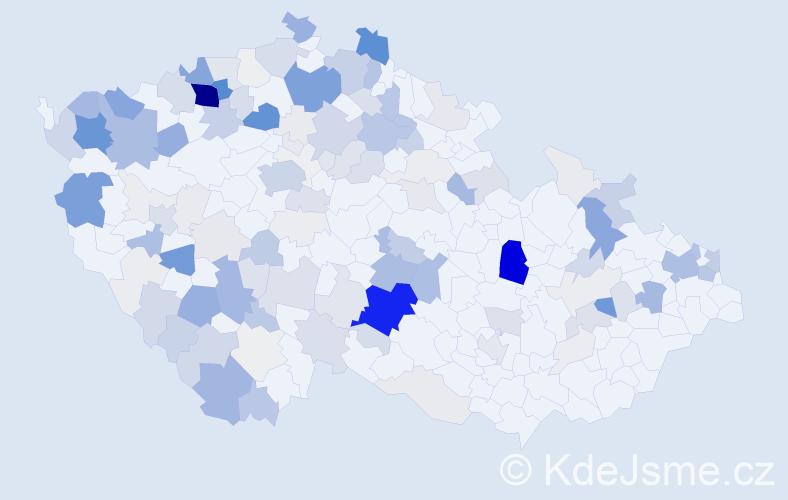 Příjmení: 'Cina', počet výskytů 769 v celé ČR