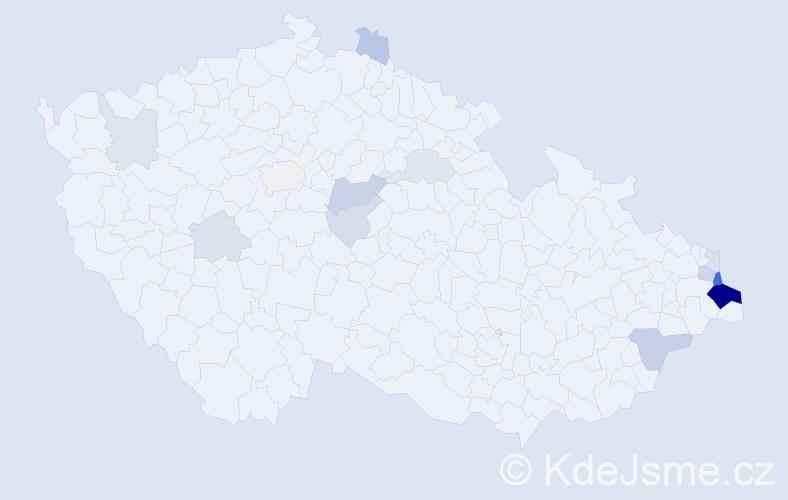 Příjmení: 'Liszková', počet výskytů 37 v celé ČR