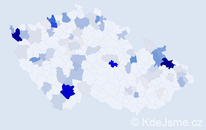 Příjmení: 'Bendíková', počet výskytů 359 v celé ČR