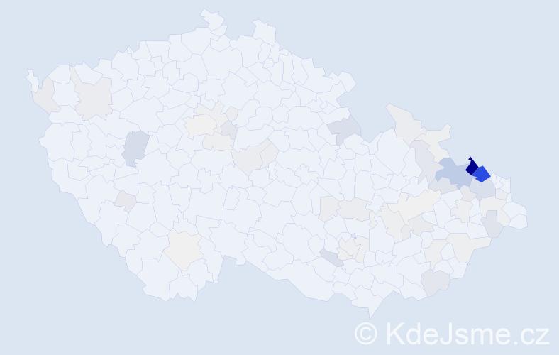 Příjmení: 'Lasák', počet výskytů 330 v celé ČR