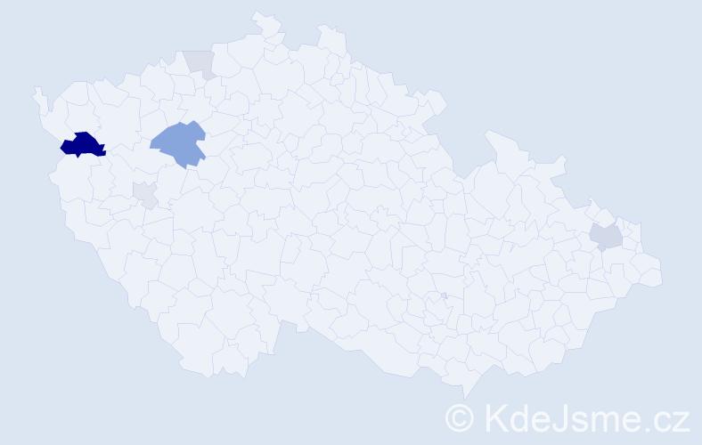 Příjmení: 'Gabriková', počet výskytů 14 v celé ČR