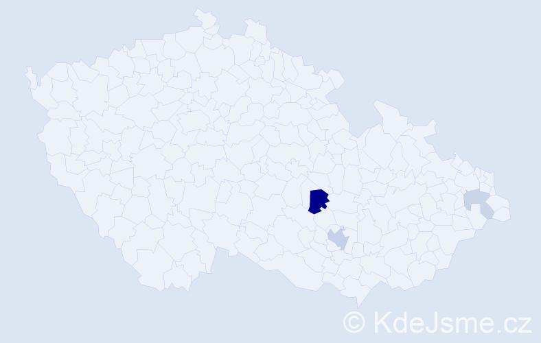 Příjmení: 'Klujová', počet výskytů 7 v celé ČR