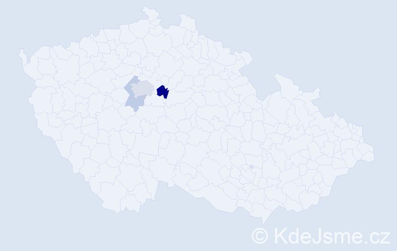 Příjmení: 'Eibich', počet výskytů 13 v celé ČR