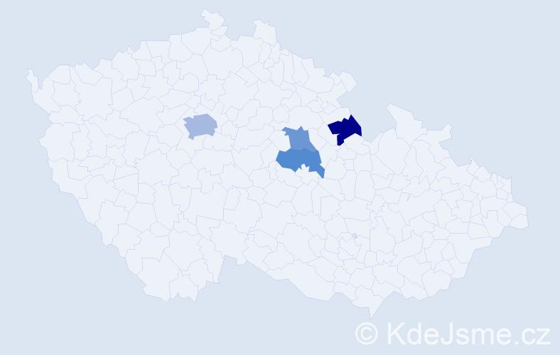 Příjmení: 'Feyfar', počet výskytů 6 v celé ČR