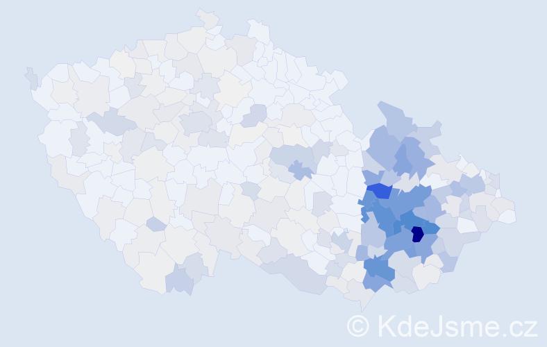 Příjmení: 'Chytil', počet výskytů 1398 v celé ČR