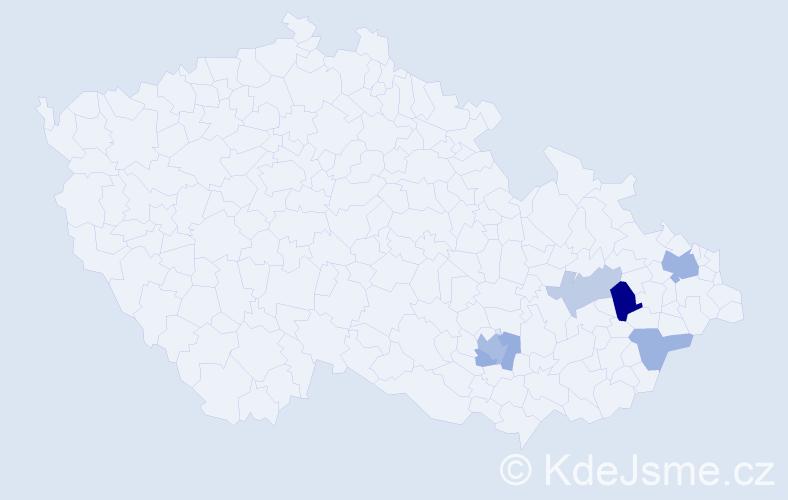 Příjmení: 'Enenkl', počet výskytů 12 v celé ČR
