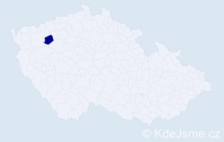 Příjmení: 'Cejtchamr', počet výskytů 1 v celé ČR