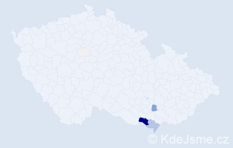 Příjmení: 'Famfrla', počet výskytů 14 v celé ČR