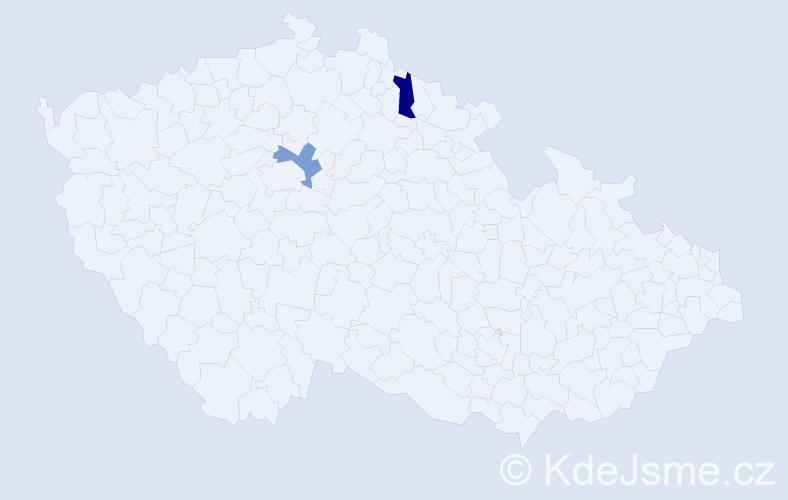 Příjmení: 'Firat', počet výskytů 4 v celé ČR