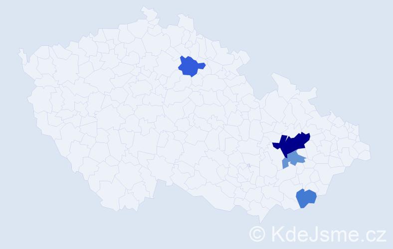 Příjmení: 'Chladnuchová', počet výskytů 7 v celé ČR