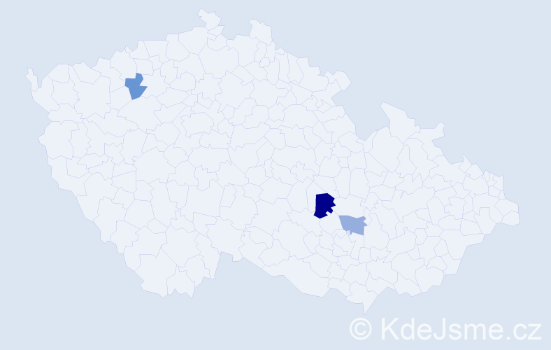 Příjmení: 'Brdár', počet výskytů 4 v celé ČR