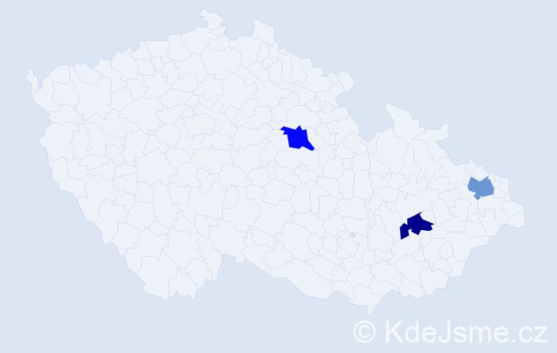 Příjmení: 'Gadlenová', počet výskytů 12 v celé ČR
