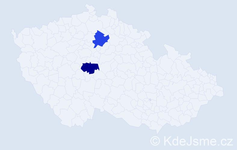 Příjmení: 'Gergelits', počet výskytů 10 v celé ČR