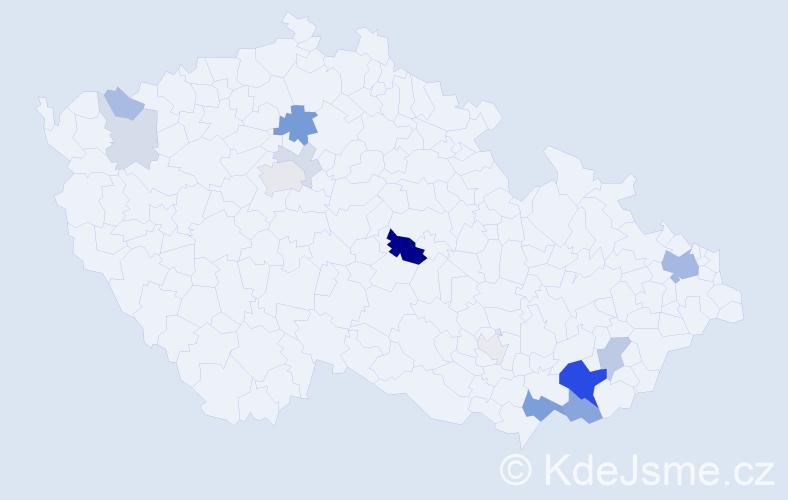 Příjmení: 'Gajdorus', počet výskytů 41 v celé ČR