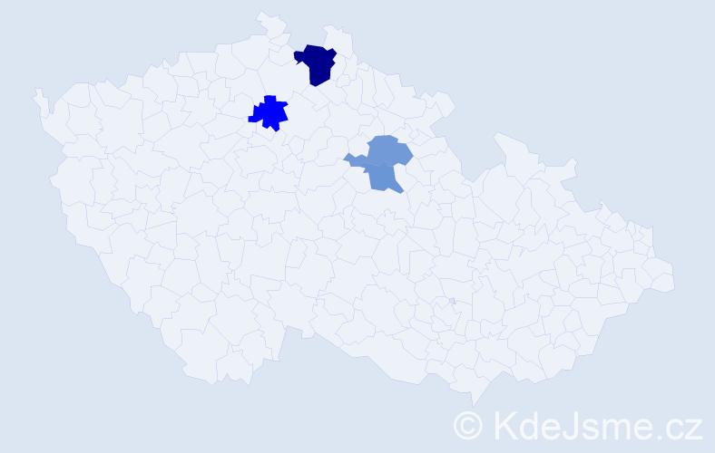 Příjmení: 'Enedi', počet výskytů 6 v celé ČR