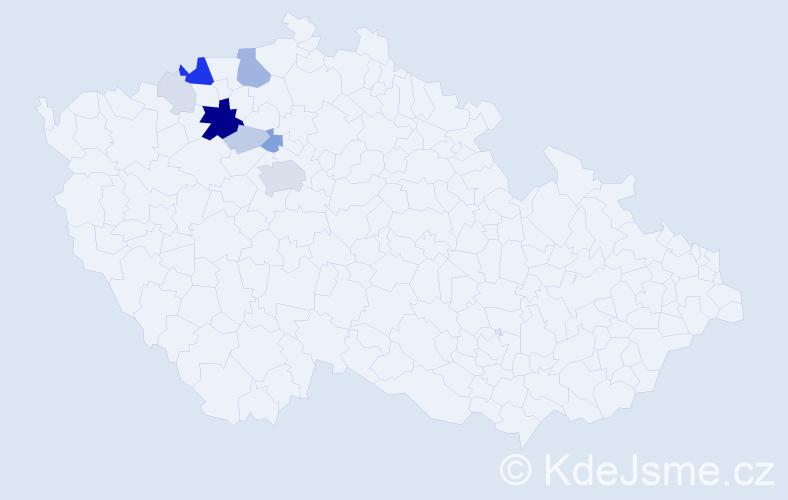 Příjmení: 'Kalachová', počet výskytů 34 v celé ČR