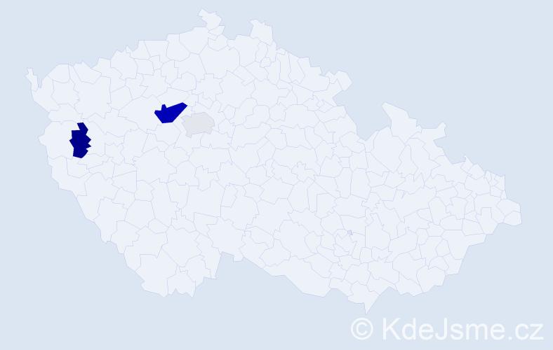 Příjmení: 'Csabová', počet výskytů 7 v celé ČR