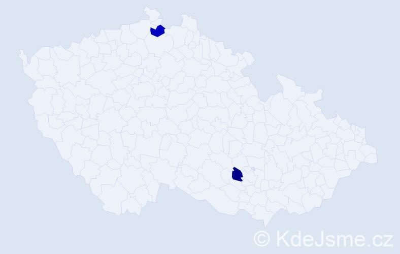 Příjmení: 'Gluškov', počet výskytů 2 v celé ČR
