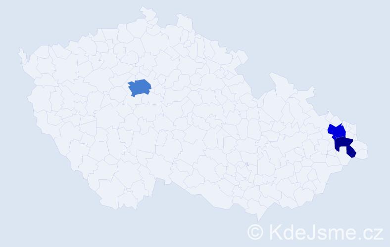 Příjmení: 'Andruško', počet výskytů 7 v celé ČR