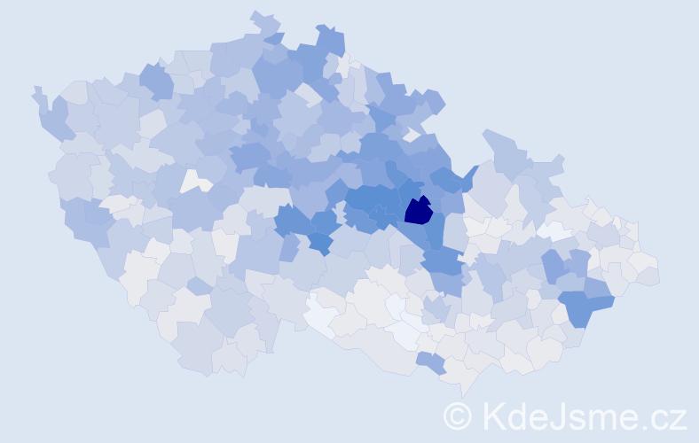 Příjmení: 'Kopecký', počet výskytů 6867 v celé ČR