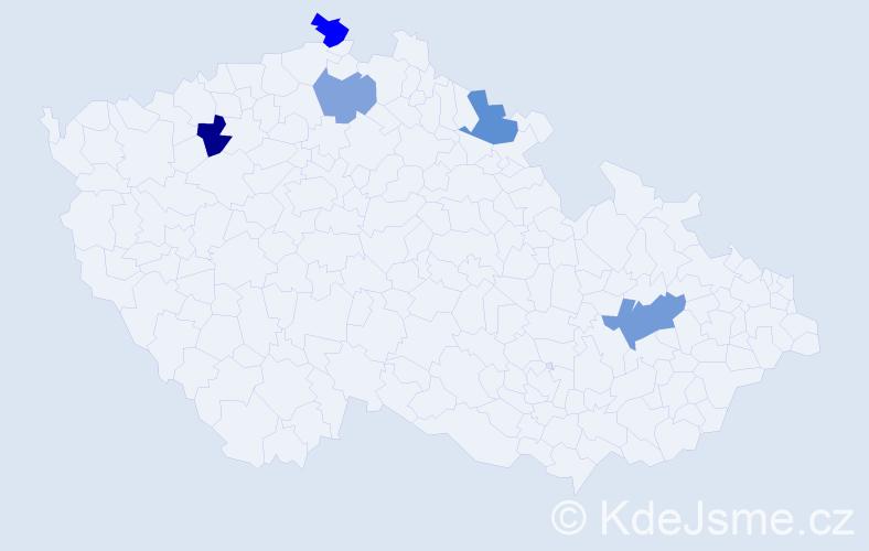 Příjmení: 'Kolert', počet výskytů 15 v celé ČR