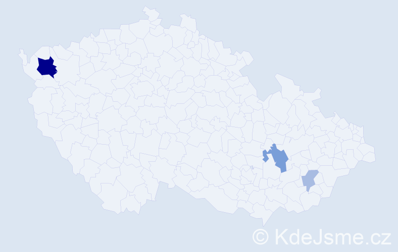Příjmení: 'Gundackerová', počet výskytů 9 v celé ČR