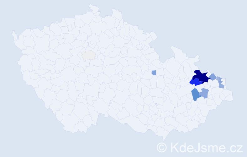 Příjmení: 'Bouchala', počet výskytů 34 v celé ČR