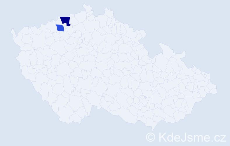 Příjmení: 'Illing', počet výskytů 3 v celé ČR