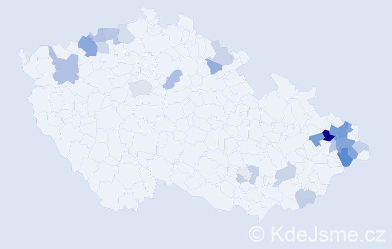 Příjmení: 'Lechová', počet výskytů 52 v celé ČR