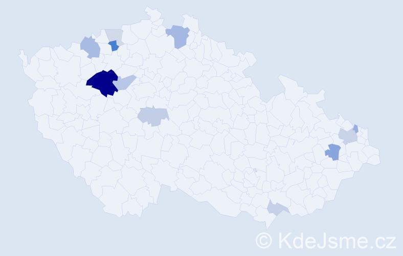Příjmení: 'Kuki', počet výskytů 28 v celé ČR