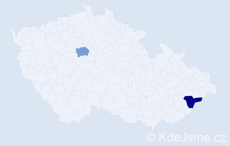 Příjmení: 'Fatina', počet výskytů 8 v celé ČR