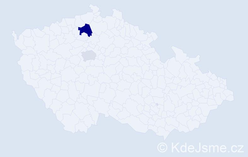 Příjmení: 'Evaldová', počet výskytů 3 v celé ČR