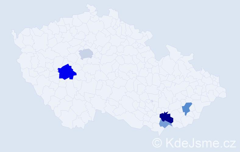 Příjmení: 'Boltnar', počet výskytů 12 v celé ČR