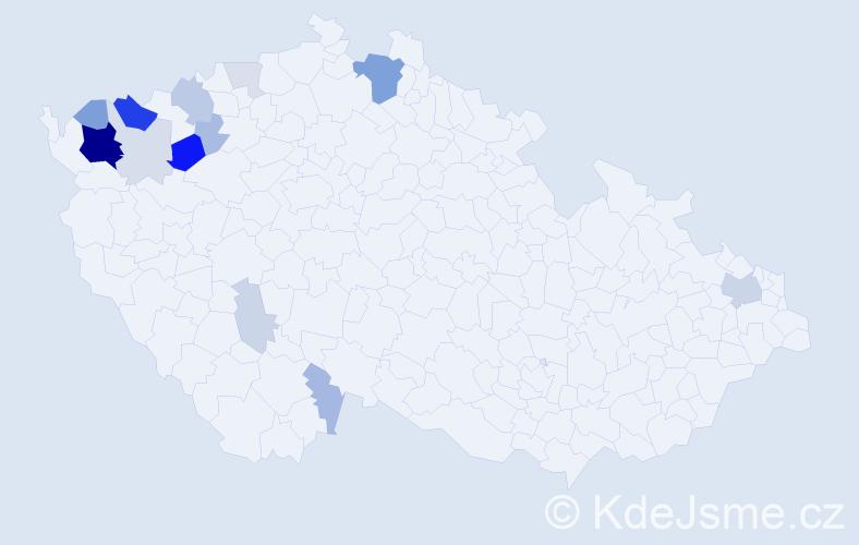 Příjmení: 'Didová', počet výskytů 45 v celé ČR