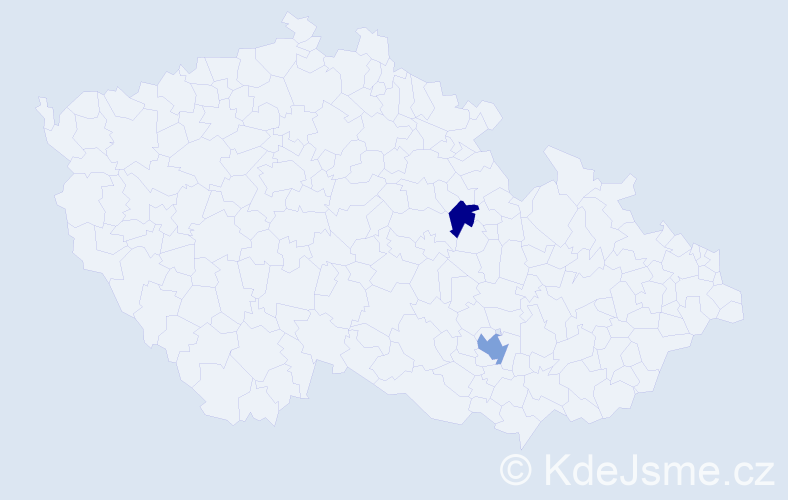 Příjmení: 'Giani', počet výskytů 3 v celé ČR